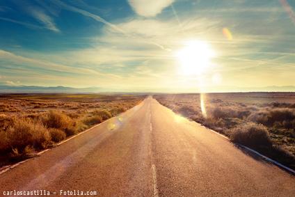 Highway w sun